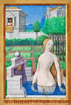 Bathseba badend, Jean Bourdichon, 1498–1499 van Atelier Liesjes