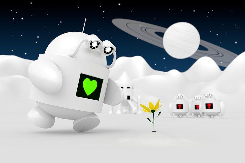 Robot Discovers Flower van Jörg Hausmann