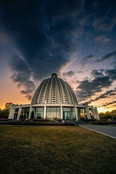 Bahai Tempel, in Hofheim Taunus zum Sonnenaufgang von Fotos by Jan Wehnert