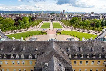 Duitse stad gezien vanaf Karlsruhe Palace