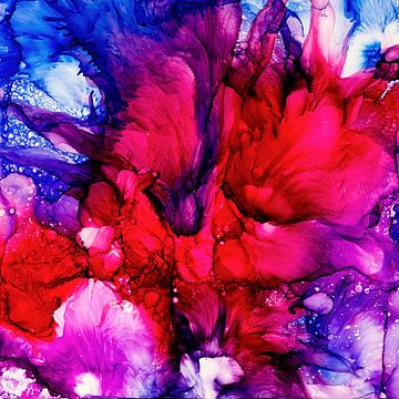 Rode Blauwe Romantiek van Agnieszka Zietek