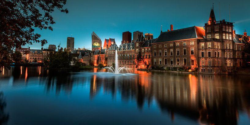 De hofvijver in Den Haag van Roy Poots