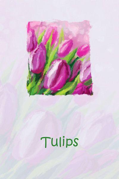 Bloemen met tulpen van Marion Tenbergen