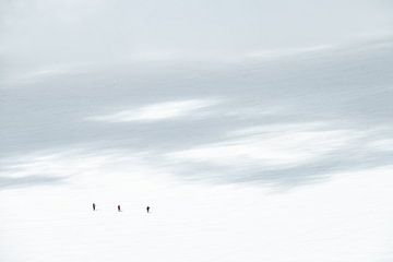 Alpinisten in de Vallee Blanche van John Faber