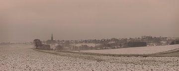 Panorama Vijlen in de sneeuw van John Kreukniet