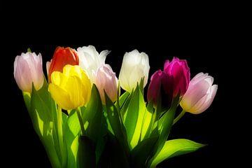 Kleurrijke tulpen von Simone Huisman