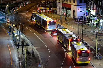 Vredenburg in Utrecht met bussen von Donker Utrecht