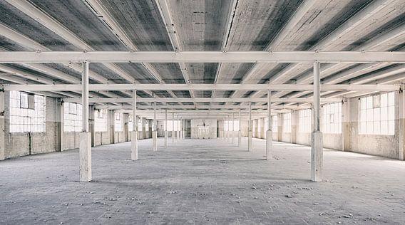 Verlassene Orte: Sphinx Fabrik Maastricht Eiffel Gebäude Säulen und Sparren