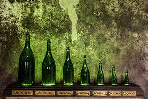 Verschillende maten Champagne flessen