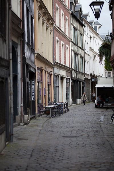 Straatleven Rouen van Van Renselaar Fotografie