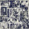 Collage van een dag leven in wit zwart van Henk van Os thumbnail