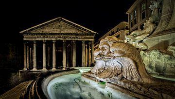 Rome - Fontana del Pantheon sur Teun Ruijters