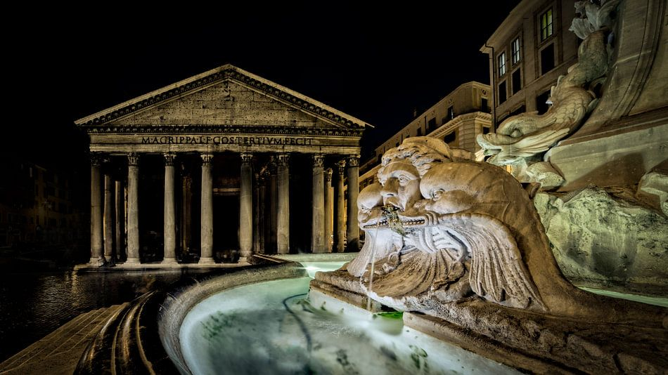 Rome - Fontana del Pantheon van Teun Ruijters
