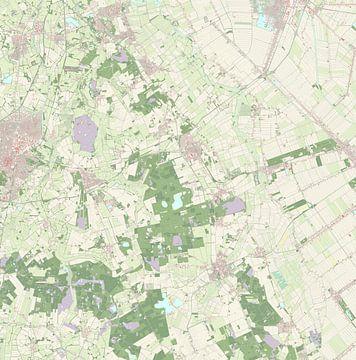 Kaart vanAa en Hunze