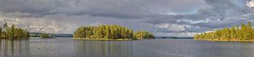 Zweden Zonsondergang Panorama van
