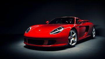 Red Porsche Carrera GT sur Ansho Bijlmakers