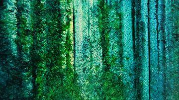 Abstract bos groen van Ingrid van El
