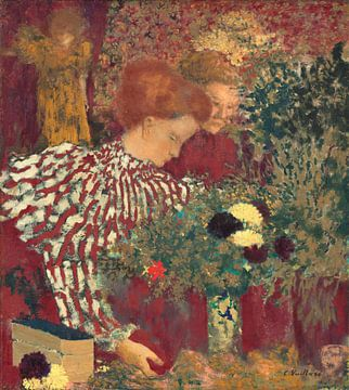 Frau in einem gestreiften Kleid, Édouard Vuillard