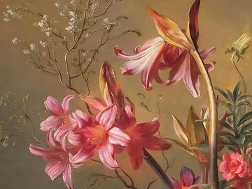 Malerei von Blumen von Rudy & Gisela Schlechter