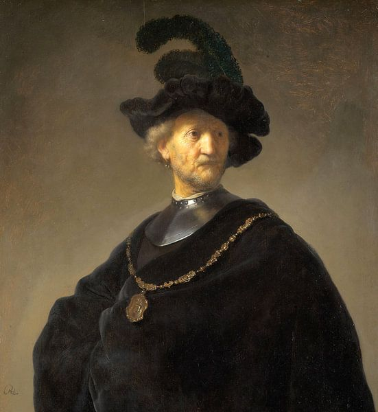Portrait eines Mannes, Rembrandt von Rembrandt van Rijn