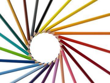 Farbstiftspirale von Achim Prill
