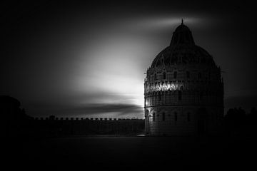 Taufkapelle in Pisa im Abendlicht von Rene Siebring