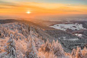 Winterabend im Schwarzwald von Michael Valjak