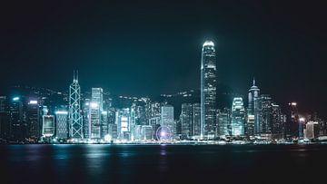 L'horizon de Hong Kong la nuit sur Govart (Govert van der Heijden)