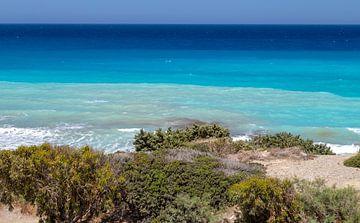 Kustgedeelte op het eiland Rhodos van Reiner Conrad