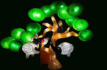 chinese light festival tree