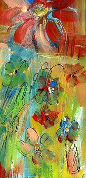 Bloemliefde 1 van Claudia Gründler