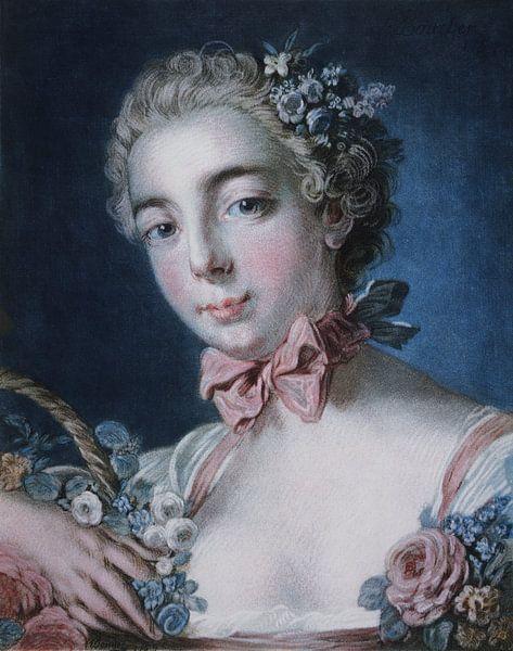 Kopf der Flora, Louis-Marin Bonnet, 1769 von Atelier Liesjes