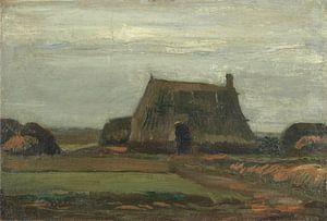 Vincent van Gogh, Boerderij met turfhopen van