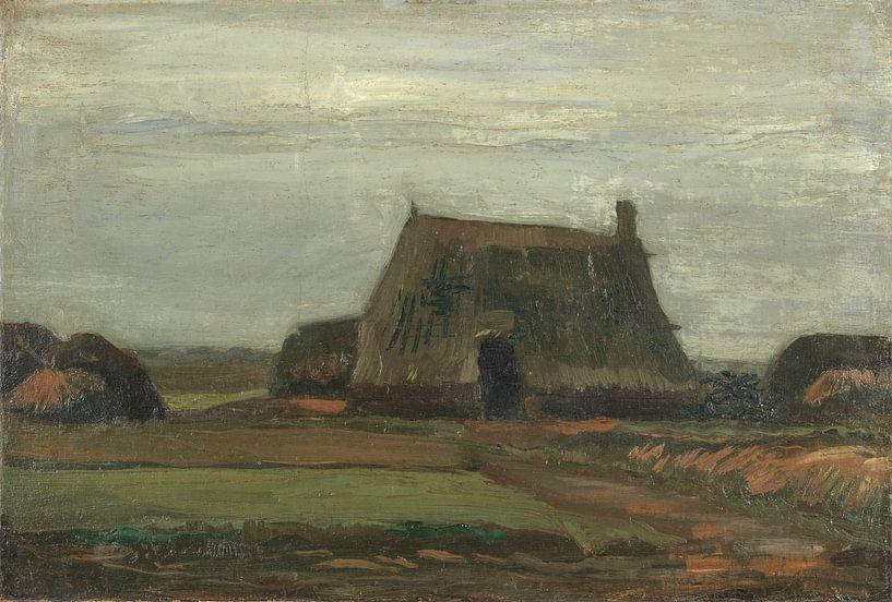 Vincent van Gogh, Boerderij met turfhopen van 1000 Schilderijen