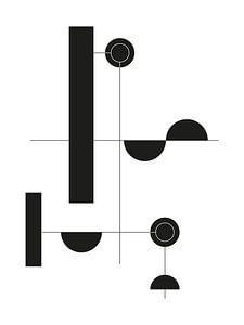 Zwart-wit Geometrische Print