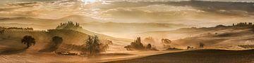 Weite Toskana Landschaft in Italien. XXL Panorama von Fine Art Fotografie