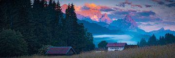Panorama mit Zugspitze von Martin Wasilewski