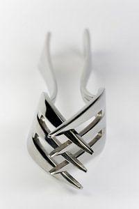 Abstracte compositie van twee vorken