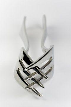 Abstracte compositie van twee vorken van