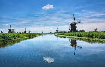 Nederlands landschap met molens
