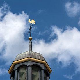 Het haantje van de kerk van Ter Kaple in Friesland. van Harrie Muis