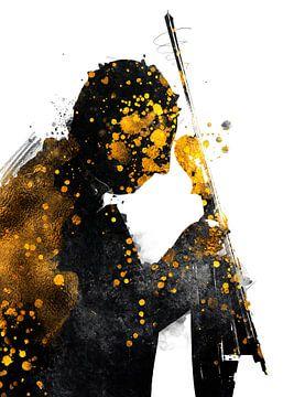 Geiger Musik Kunst #Violinist von JBJart Justyna Jaszke