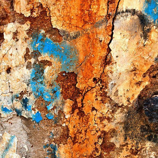 Verweerde muur - studie 2 van Hans Kwaspen