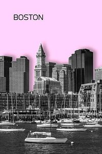BOSTON Skyline | Graphic Art | roze