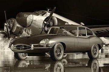 Die Autokultur des Jaguar E-Type aus den 1960er Jahren