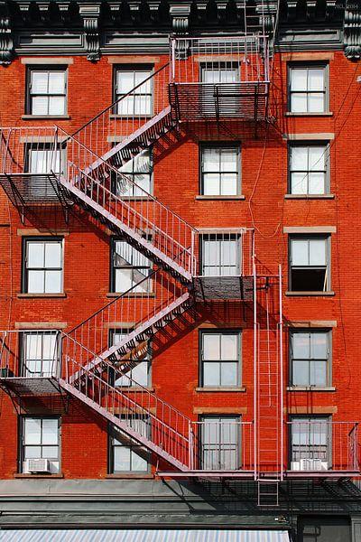 Fire Escape New York City 1940s : New york city fire escape auf leinwand poster bestellen