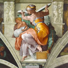 Michelangelo. Sixtijnse Kapel, Sibille van 1000 Schilderijen