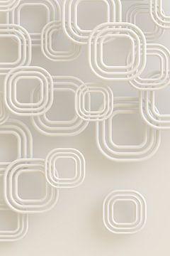 Quadrate creme von Jörg Hausmann