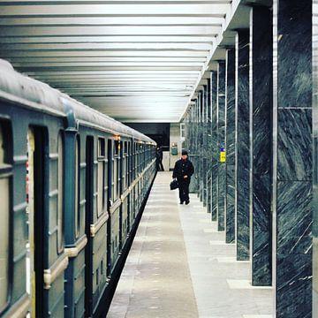 De metro in Moskou van SPOOR Spoor