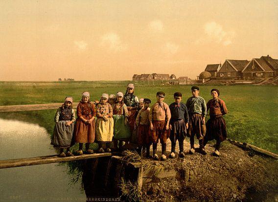 Weeskinderen in de polder von Vintage Afbeeldingen